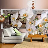 Wall Murals: Orchids behind the mailbox 2