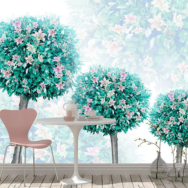 Wall Murals: Trees with flowers 0