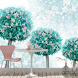 Wall Murals: Trees with flowers 2