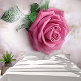 Wall Murals: Pink between feathers 2