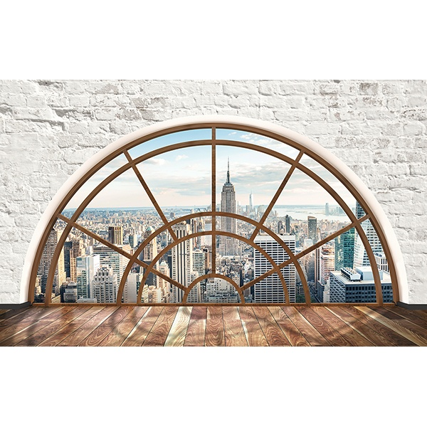 Wall Stickers: Semicircular window New York
