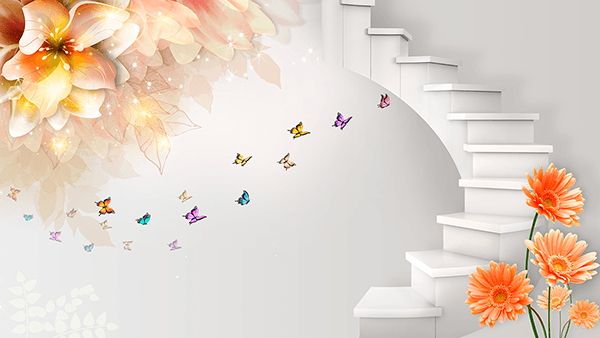 Wall Murals: Staircase to Fantasy World