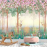 Wall Murals: Deer in spring 2