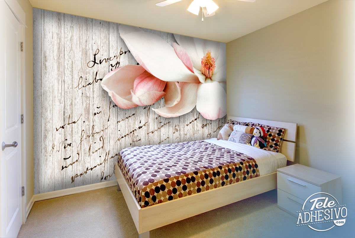 Wall Murals: Poems and flowers