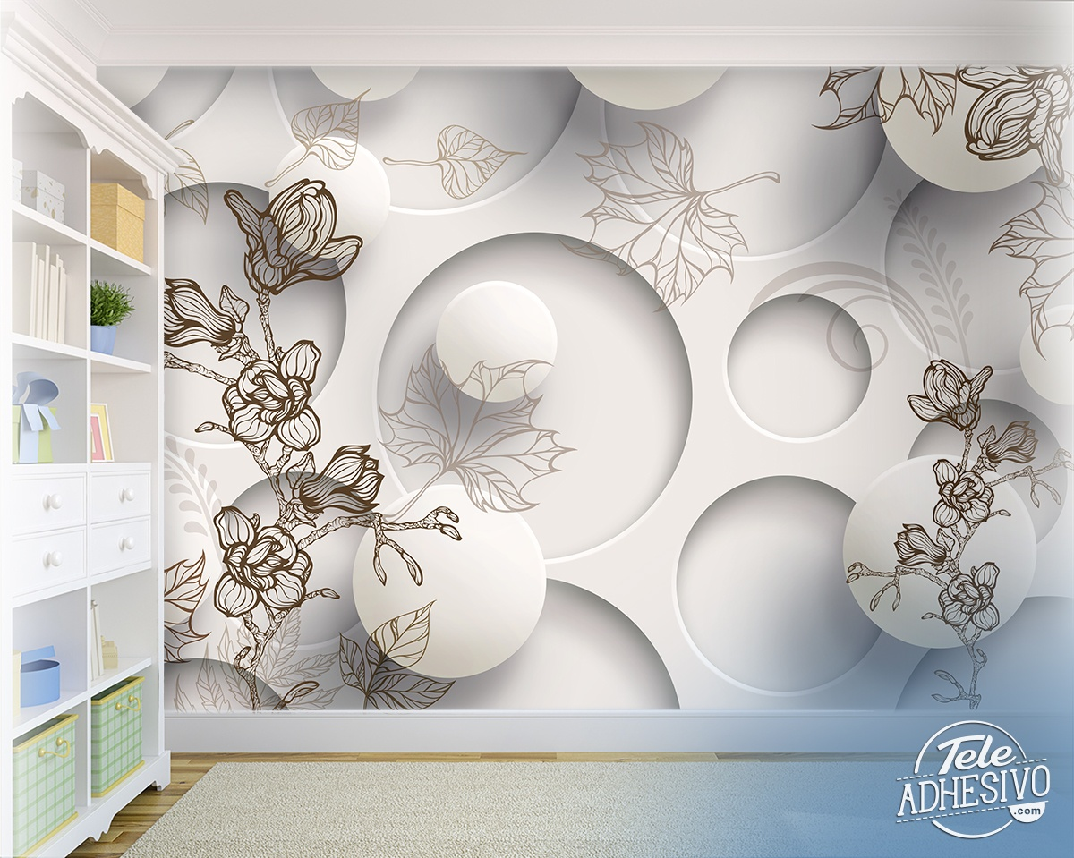 Wall Murals: Floral Collage