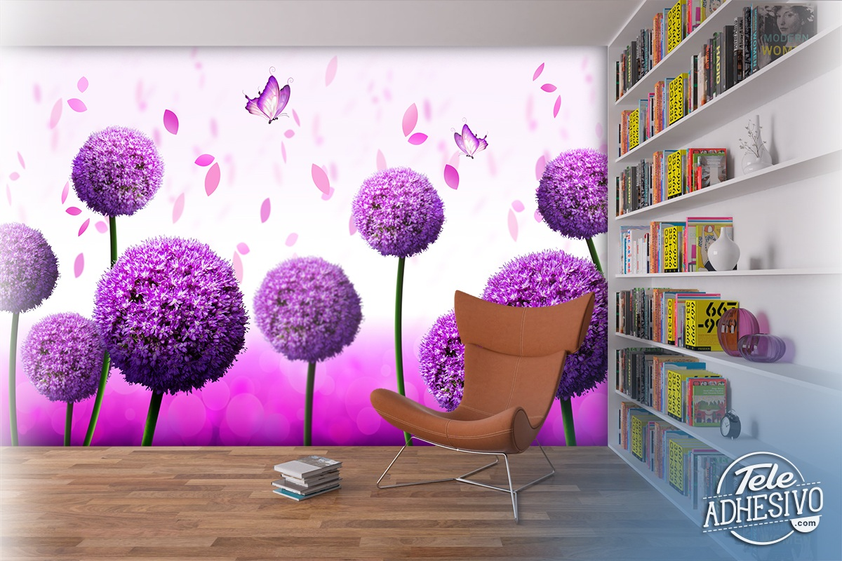 Wall Murals: Garlic flower