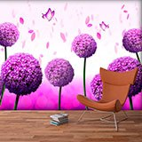 Wall Murals: Garlic flower 2