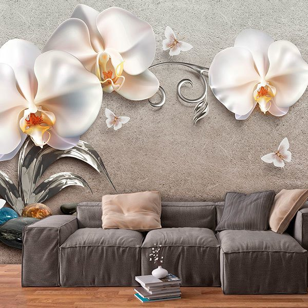 Wall Murals: White Orchids