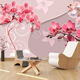 Wall Murals: Yin and Yang Orchids 2
