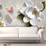 Wall Murals: Flowers on a letter 2