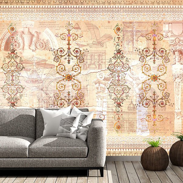 Wall Murals: Antique Ornaments
