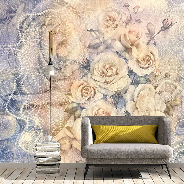 Wall Murals: Winchester Cathedral Bouquet of Roses