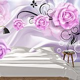 Wall Murals: Violet bubbles and roses 2
