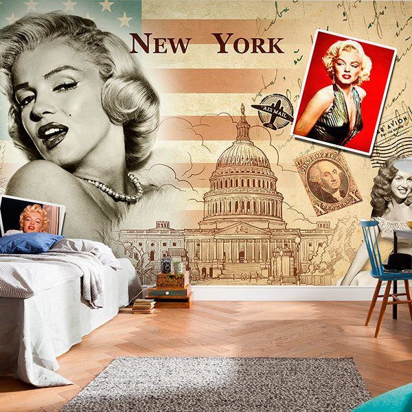 Wall Murals: Collage Marilyn Monroe