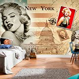 Wall Murals: Collage Marilyn Monroe 2