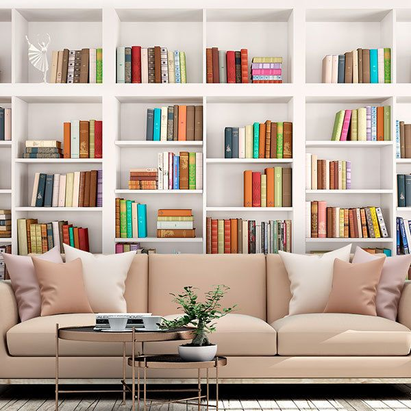 Wall Murals: Shelving wall