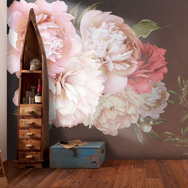 Wall Murals: Rose Flower Power 0