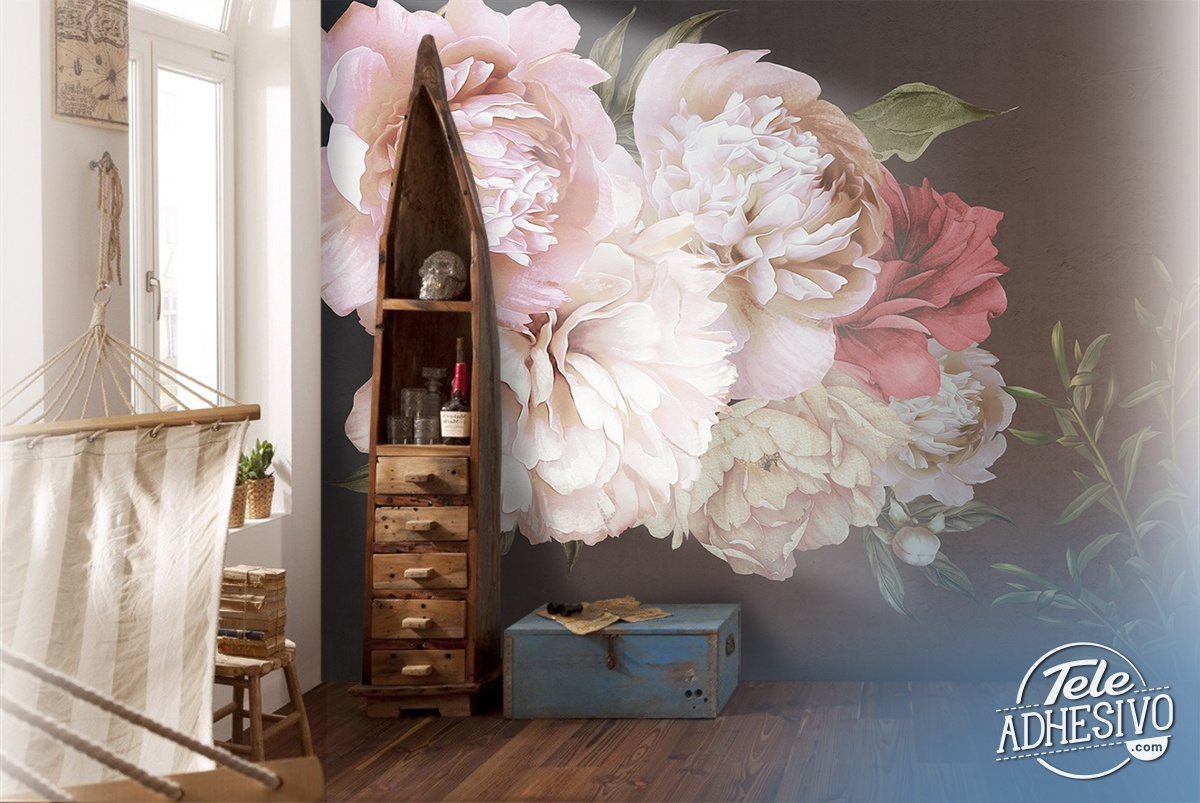 Wall Murals: Rose Flower Power