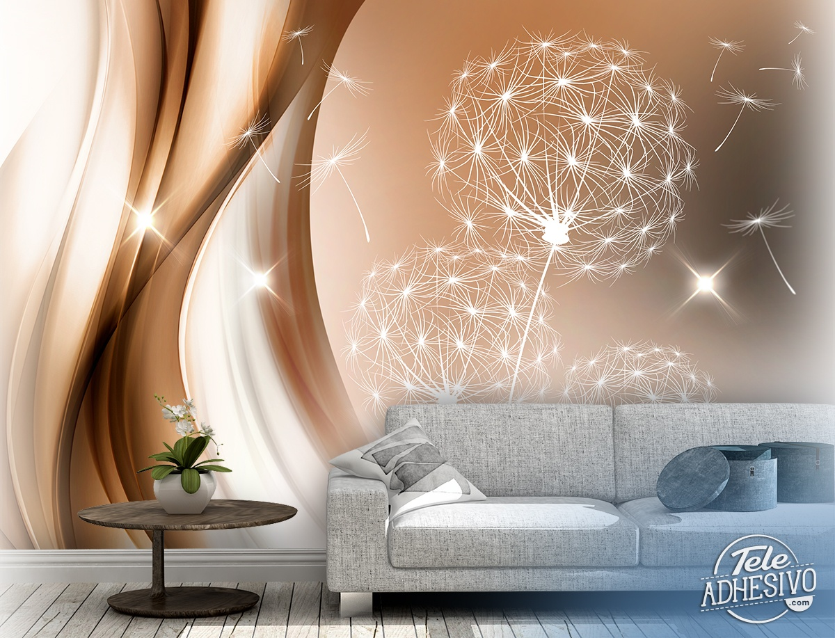 Wall Murals: Luminous dandelion