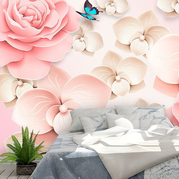 Wall Murals: Rain of roses