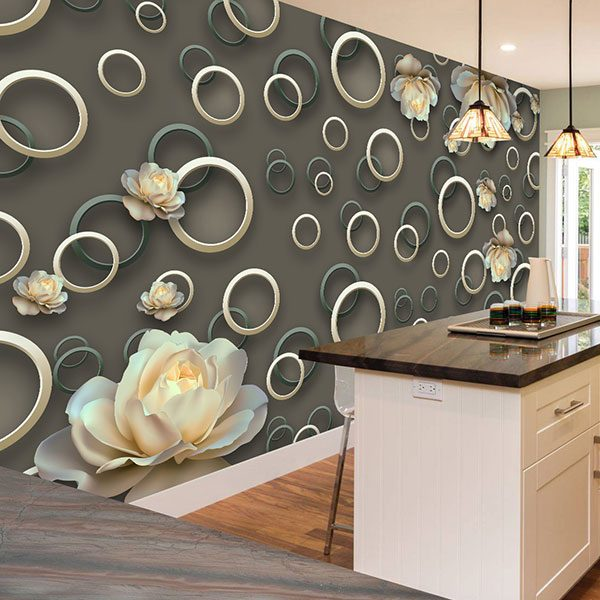 Wall Murals: Rings and roses 0