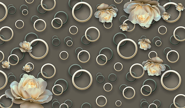 Wall Murals: Rings and roses