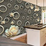 Wall Murals: Rings and roses 2