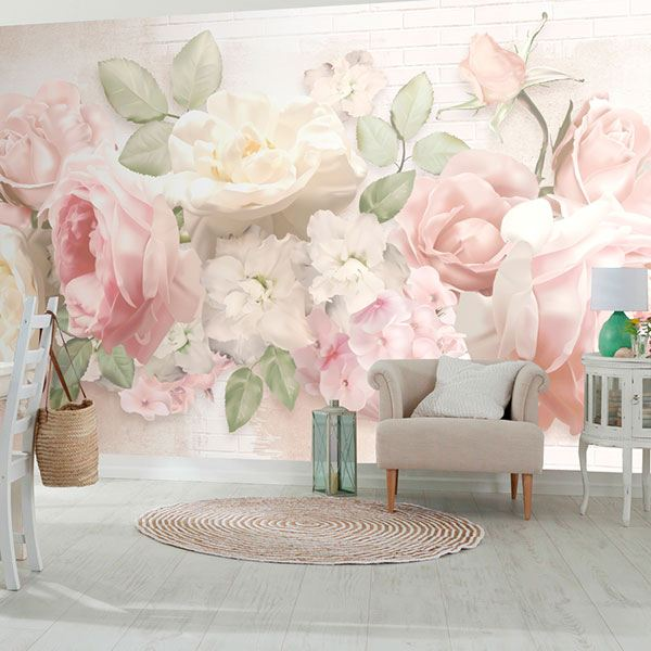 Wall Murals: Floral Cocktail