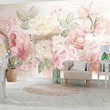 Wall Murals: Floral Cocktail 2