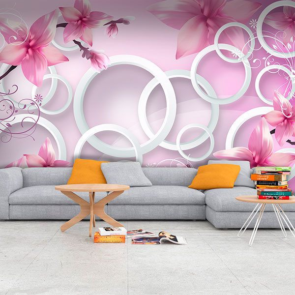 Wall Murals: Stephanotis pink