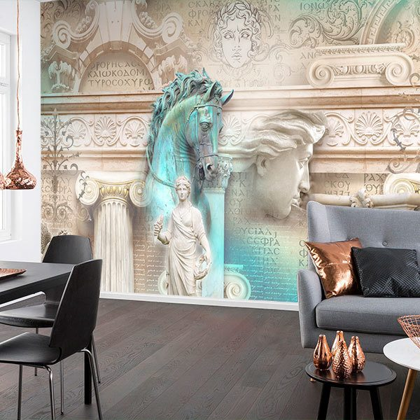 Wall Murals: Collage sculptures