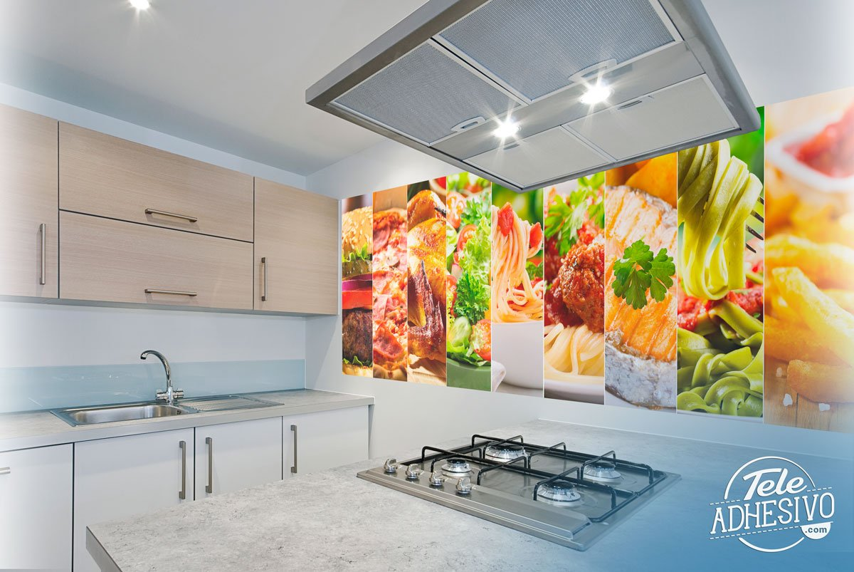 Wall Murals: Food collage