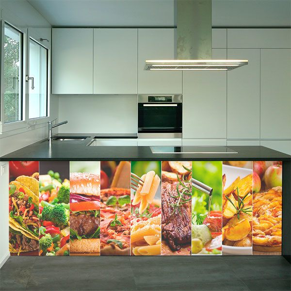 Wall Murals: Delicious Collage Menu