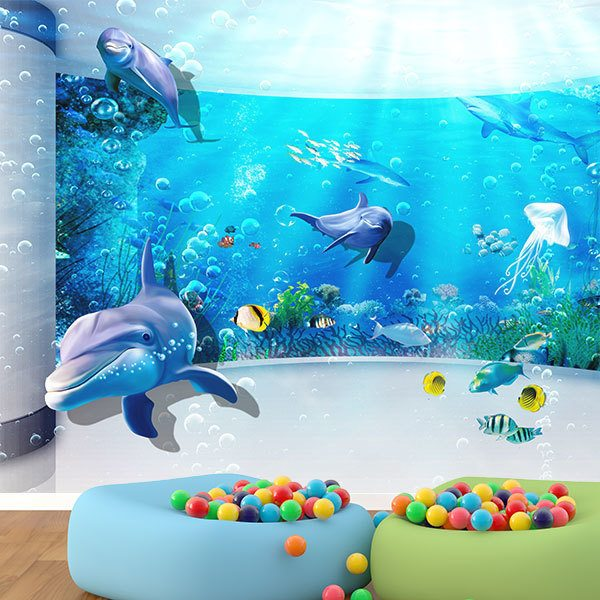 Wall Murals: Dolphins in your paradise