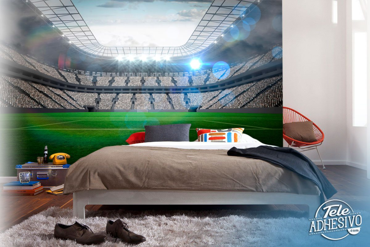 Wall Murals: Modern football stadium