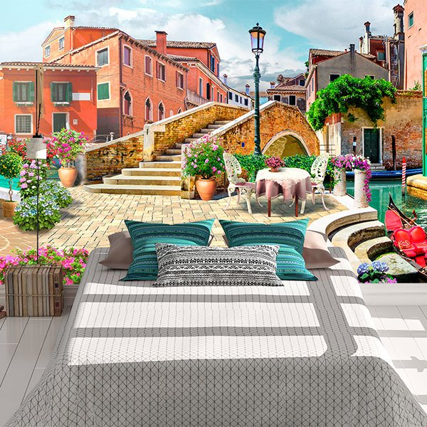 Wall Murals: Charming village