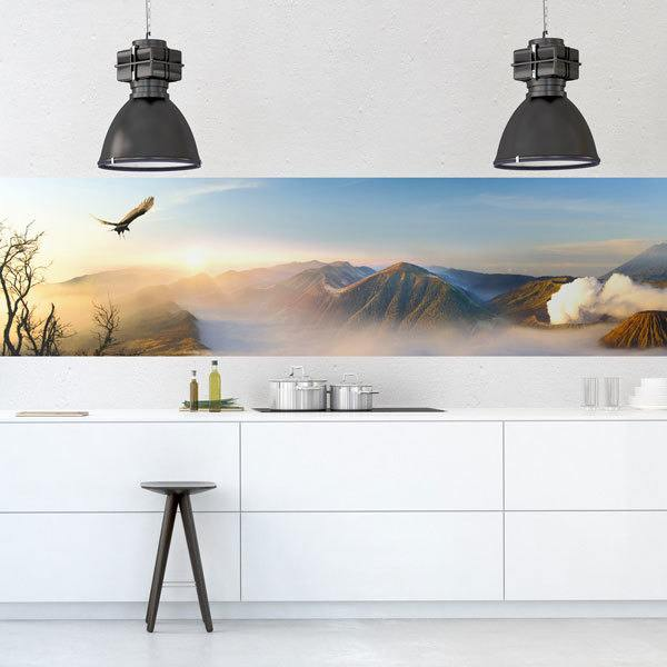 Wall Murals: Dawn among the mountains