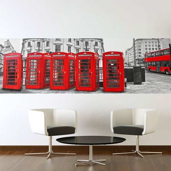 Wall Murals: London cabins and buses