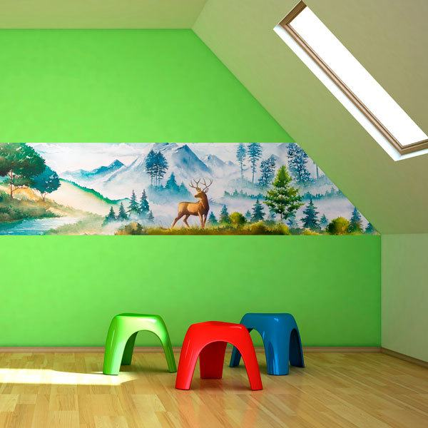 Wall Murals: Painting of the mountain