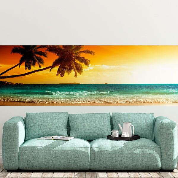 Wall Murals: Beach sunset