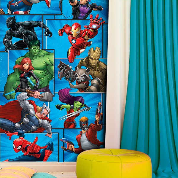Wall Murals: Avengers Cartoons