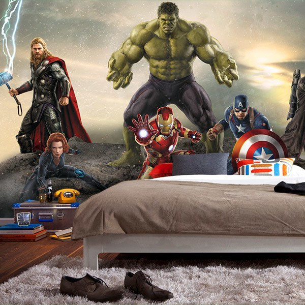 Wall Murals: Avengers Ready for Battle