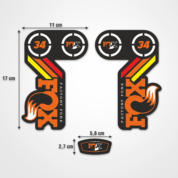 Car & Motorbike Stickers: Fork Fox Factory  Kit 34 3X