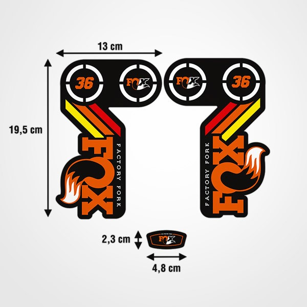 Car & Motorbike Stickers: Fork Fox Factory Fork Kit 36