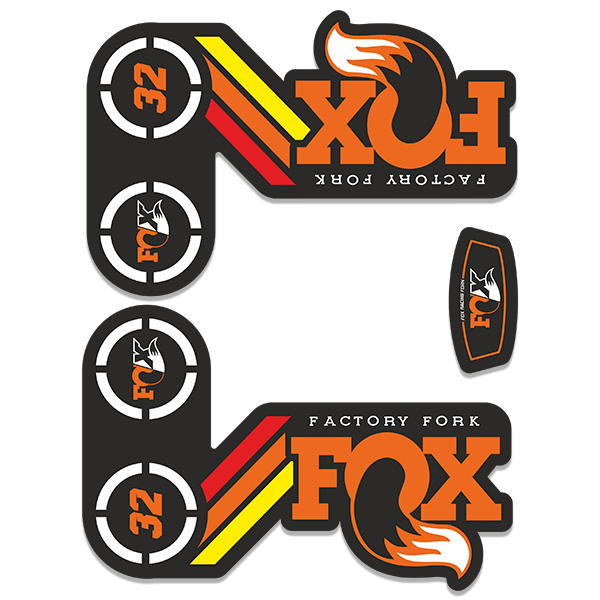 Car & Motorbike Stickers: Kit Fork Forks Fox Factory Fork 32