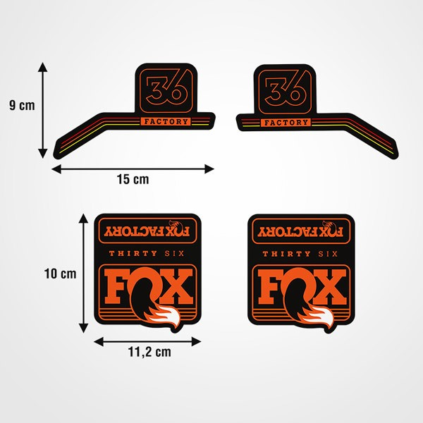 Car & Motorbike Stickers: Fox Thirty Six bike forks