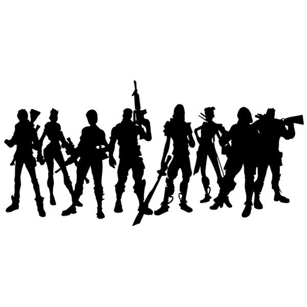 Wall Stickers: Fortnite Players