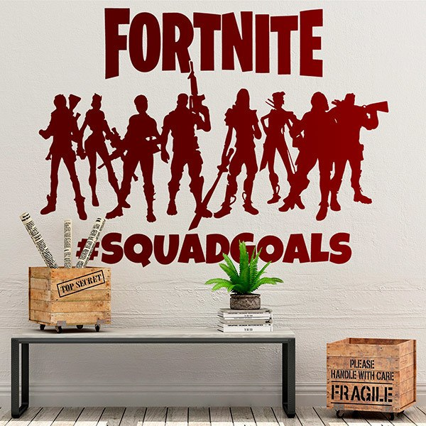 Wall Stickers: Fortnite Squadgoals Logo