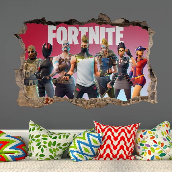 Wall Stickers: Hole Fortnite Players