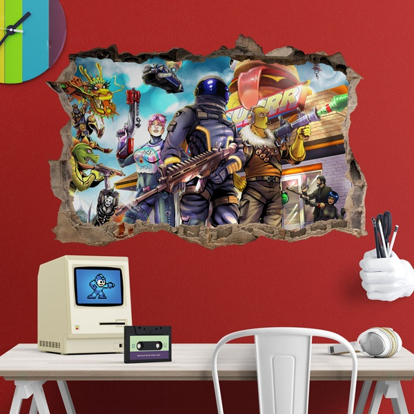 Wall Stickers: Hole Fortnite Burguer
